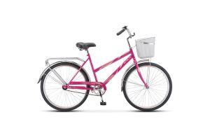 Велосипед Stels Navigator 26' 200 Lady Z010 Малиновый (с корзиной) (LU094046)